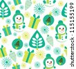 childlike christmas pattern. vector illustration - stock photo