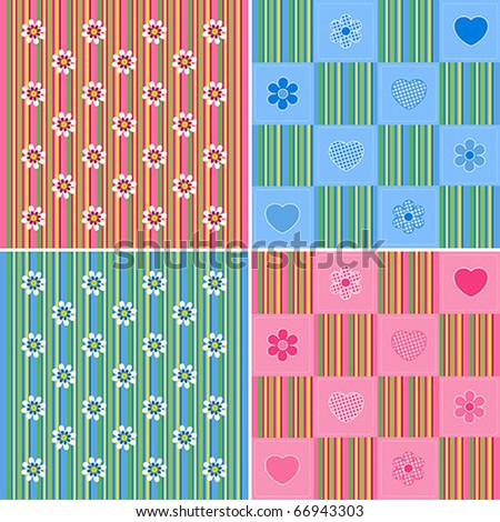 Children background collection - stock vector