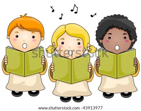 Children Choir - Vector - stock vector