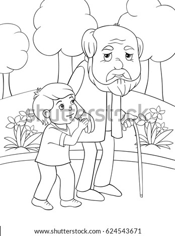 coloring pages of elderly people - photo#12