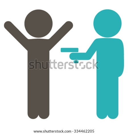 Children Crime vector icon. Style is bicolor flat symbol, grey and cyan colors, rounded angles, white background. - stock vector