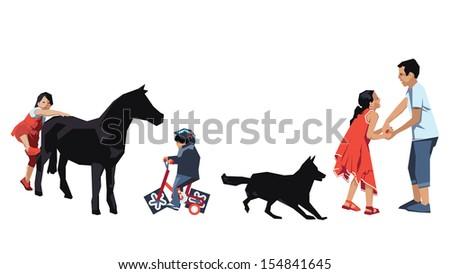 Children - Design Elements - stock vector