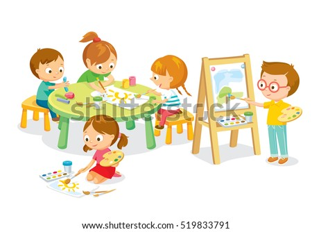 children drawing in art class - Children Drawing Images