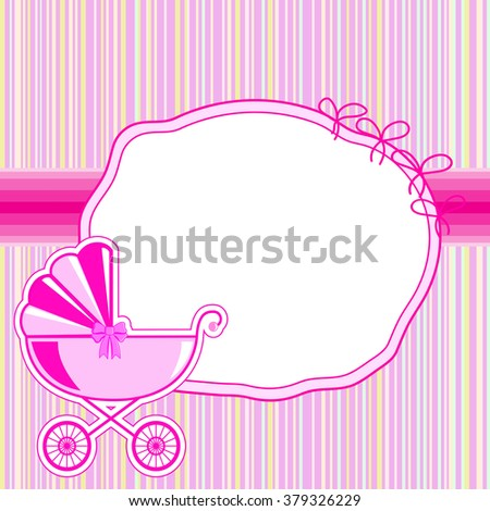 children frame for a girl at birth in vector EPS