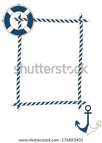 Children frame with nautical icons