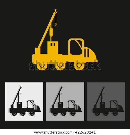 Children machinery construction vector in color backdrop