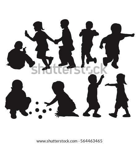 children playing silhouette - photo #39