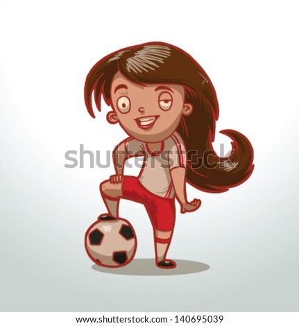 children playing sports, vector, 03 - stock vector