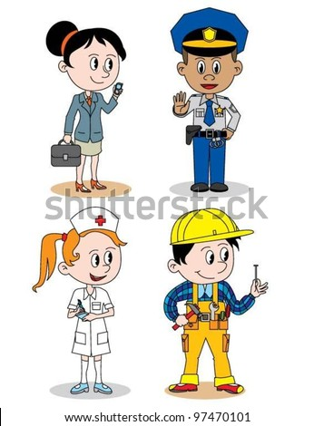 Children profession character - stock vector