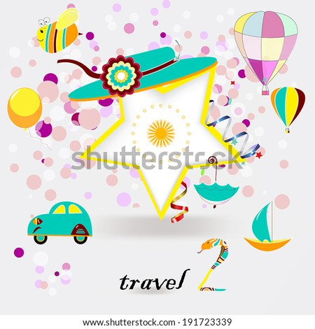Children's bright summer vector background