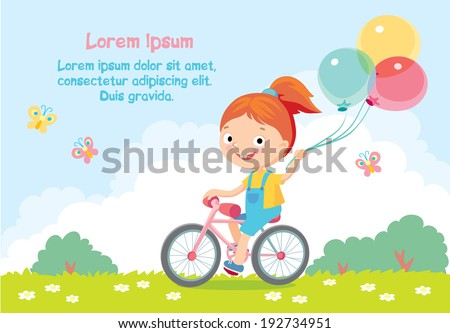 children's card - stock vector