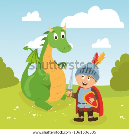 Brave Knight And Dragon