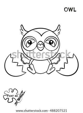 childrens coloring book that says paint stock vector 488207521
