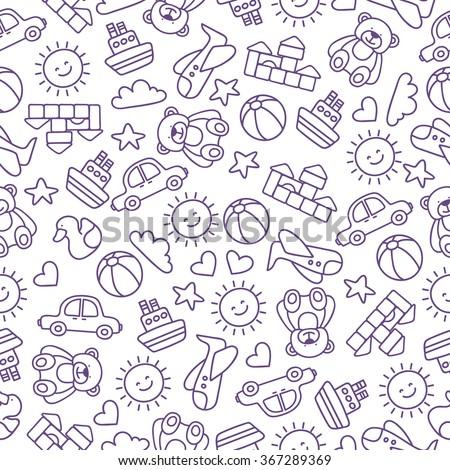 children's pattern - stock vector