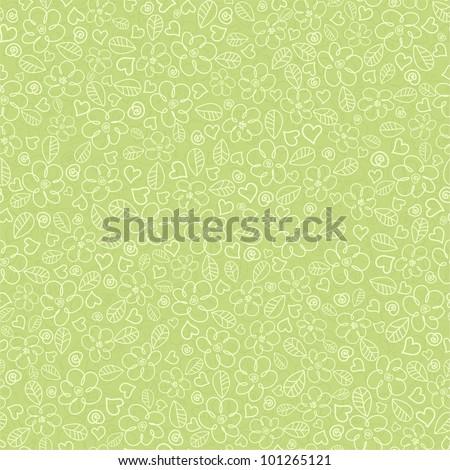 Children's seamless background flower is green - stock vector