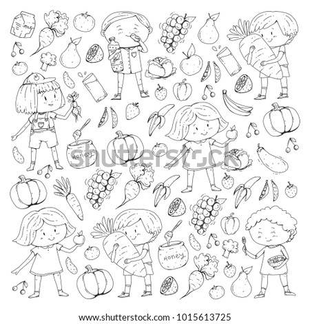 Kids Drawing Carrot Stock Images Royalty Free Images