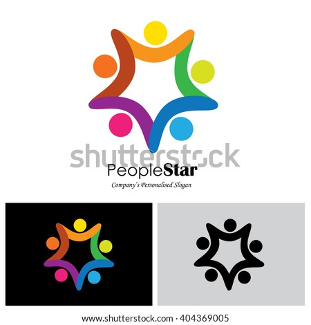 children vector logo icon in eps 10 format - stock vector