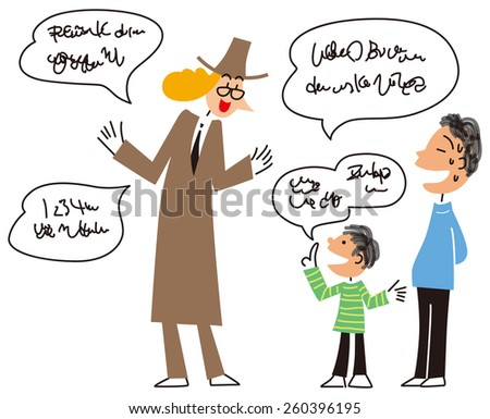 Children who speak a foreign language - stock vector