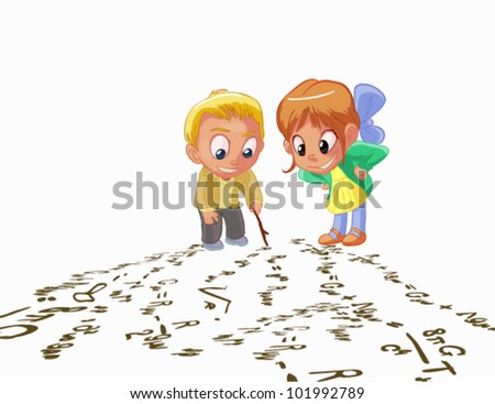 childs prodigy - stock vector