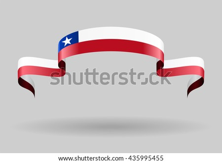 Chilean flag wavy abstract background. Vector illustration. - stock vector