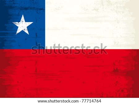Chilean grunge Flag. A grunge flag of chile with a texture - stock vector