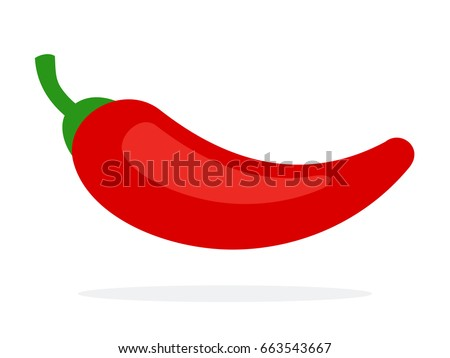chili pepper flat vector material design stock vector 663543667 rh shutterstock com red chili pepper vector chili pepper vector fire