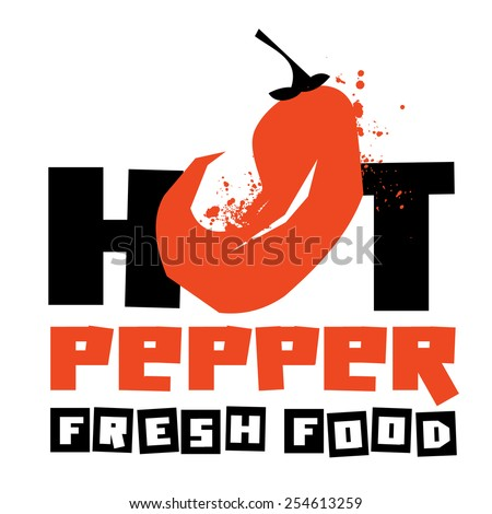 chili peppers vector logo design template. vegetable or food icon. - stock vector