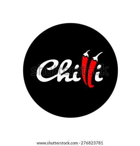 Chilli logo design - stock vector