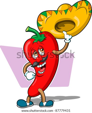 Chilli Pepper Guy - stock vector