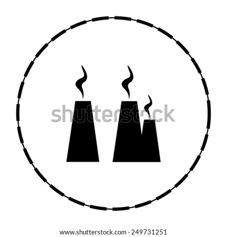 chimney smoke, station - stock vector