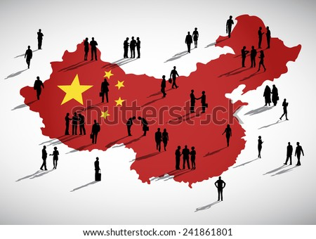 China Business - stock vector