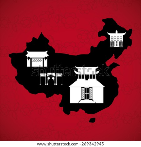 china concept design, vector illustration eps10 graphic