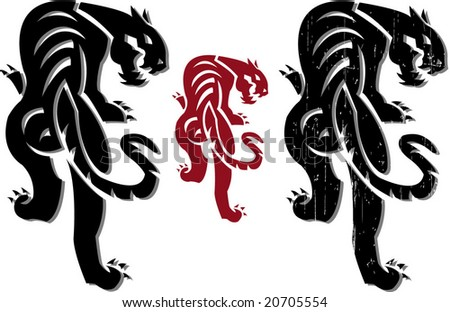 china panther - stock vector
