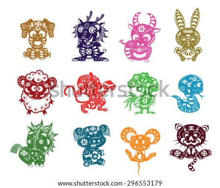 chinese  animals paper cut