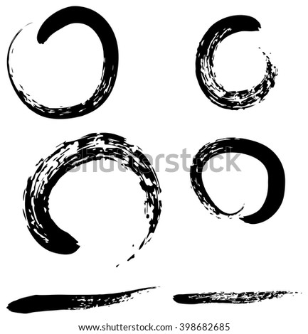 Chinese brushdraw the circle of Zen