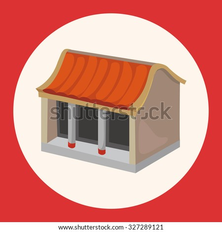 Chinese building theme elements