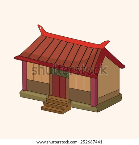 Chinese building theme elements vector,eps
