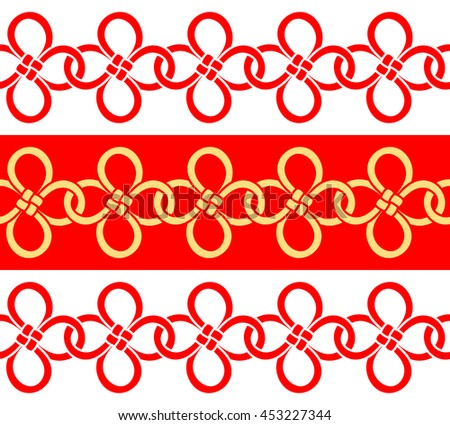 Chinese Clover Leaf Knot Good Luck Stock Vector Royalty Free
