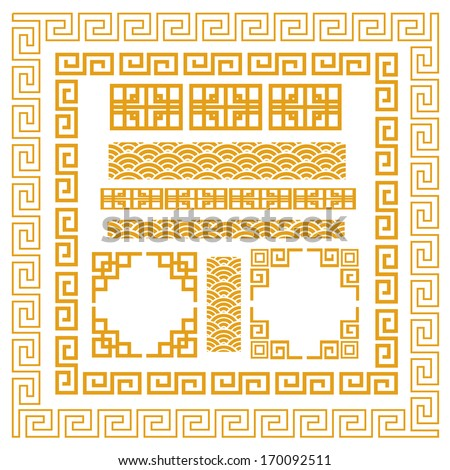 Chinese decorative frame - stock vector
