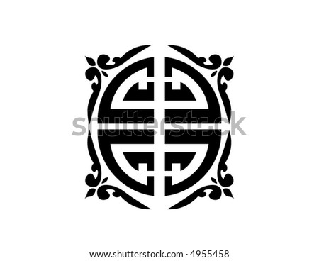 Chinese design - stock vector