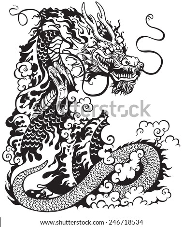 Chinese Dragon Black White Tattoo Illustration 246718534 furthermore  on far cry 3 all animals