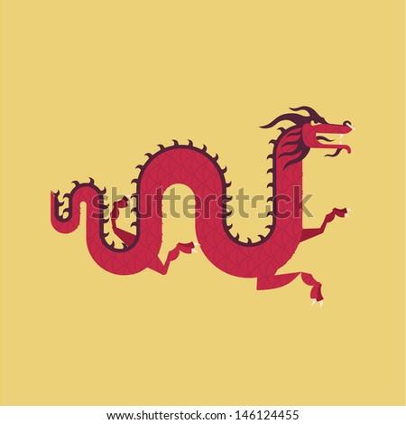 chinese dragon illustration - stock vector