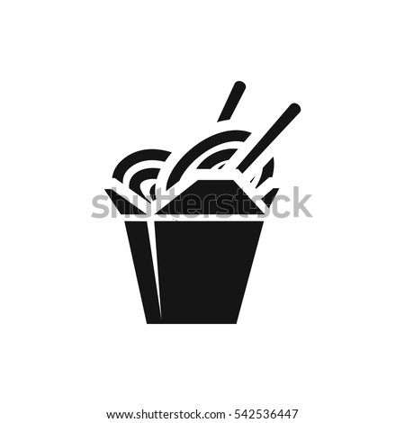 Chinese Fast Food Icon Illustration Isolated Stock Vector 542536447