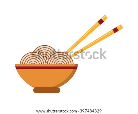 Chinese food dinner cuisine and chinese food meal dish lunch. Chinese vegetable oriental asia restaurant food. Chinese food. Chow Mein: fried noodles with chicken and vegetables chinese food vector. - stock vector
