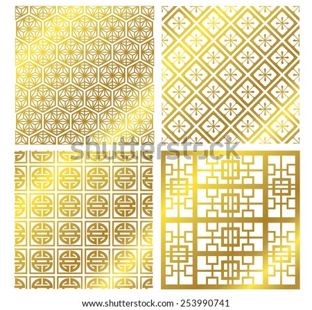 Chinese frame set Vector - stock vector