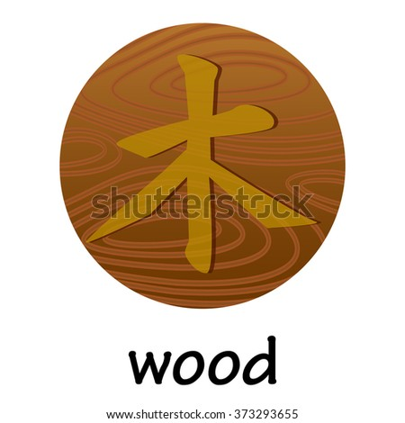 Chinese hieroglyph WOOD - stock vector