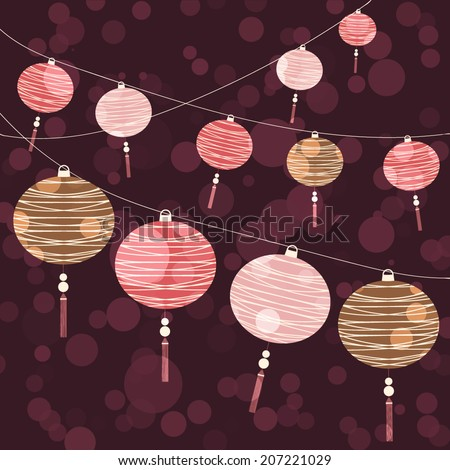 Chinese Lantern Background - stock vector
