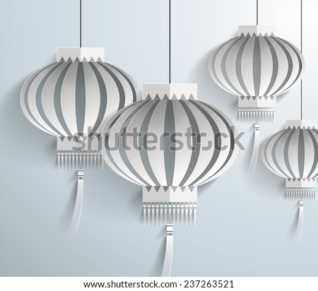 Chinese lantern template vector/illustration - stock vector