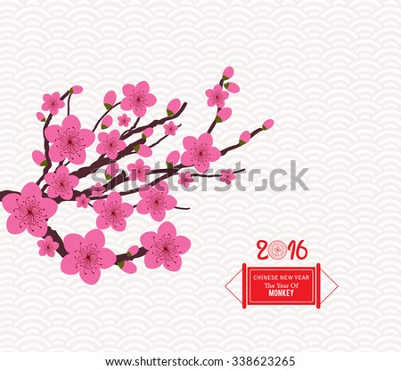 Chinese Lunar New Year with Japanese plum blossom