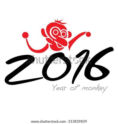 Chinese monkey year. - stock vector